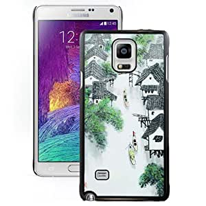 Chinese Painting Hard Plastic Samsung Galaxy Note 4 Protective Phone Case