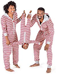 Holiday Family Jumpbees, Peppermint Stripe Jumpsuit, One-Piece Romper