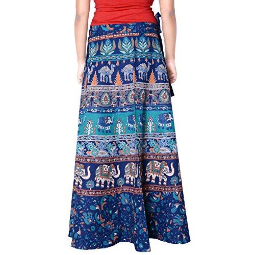 Sttoffa 40 Pouces Enveloppement Autour De La Jupe Longueur Rajasthani D1 Turquoise