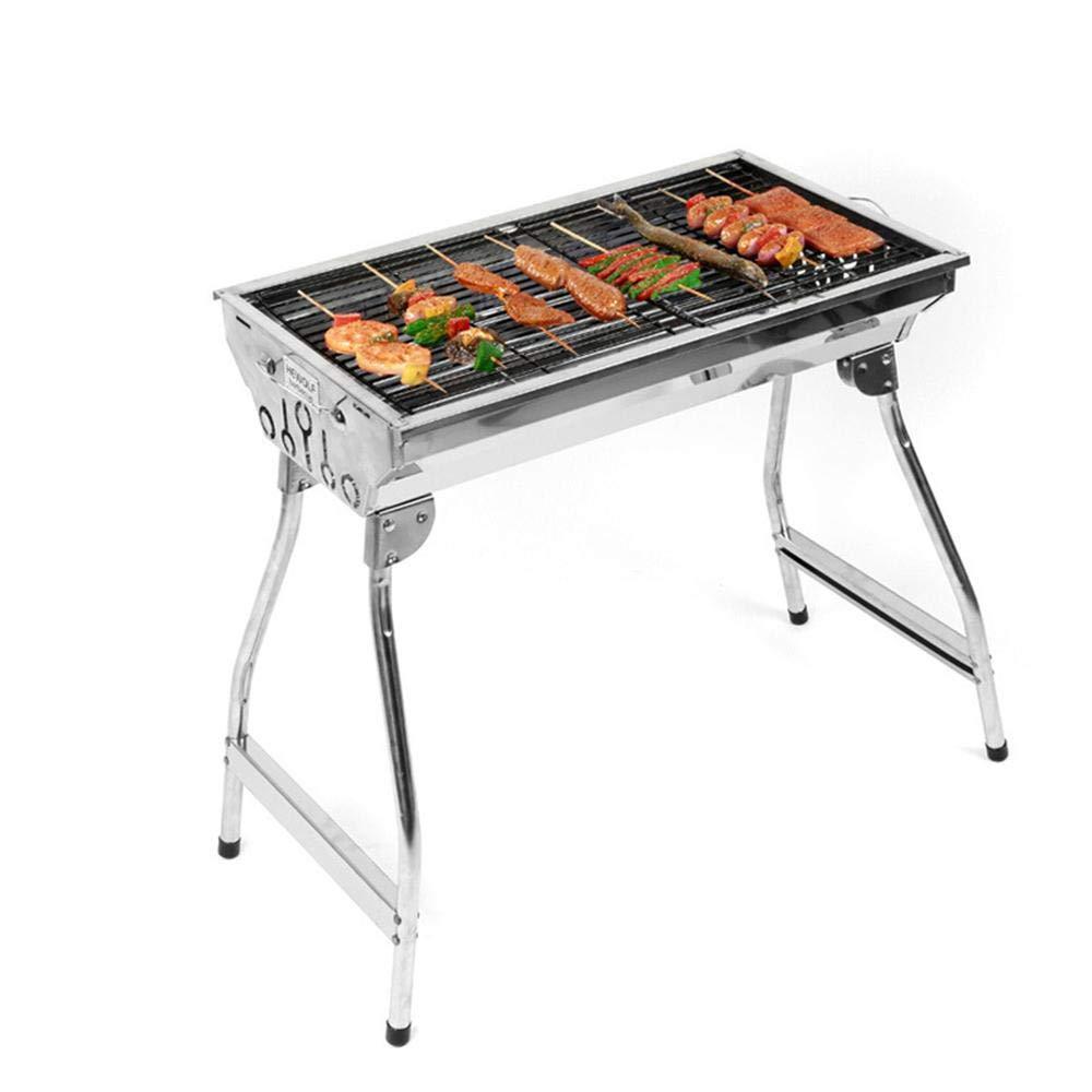 PIO BBQ Grill für Camping Garten Picnics, Portable Edelstahl Holzkohle Barbecue Grill