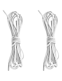 "DailyShoes Round Waxed Shoelaces Oxford Flat Dress Canvas Sneaker Shoe Laces (27"" 36"" 45"" 54"" 60"" 78"") Unisex Strings-2-Pairs"