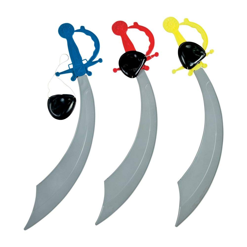 Fun Express Pirate Sword with Eye Patch Costume (1 Dozen)