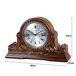 LANNA SHOP- Retro Mantel / Mantle Rhythm Quartz Clock resin living room desk shelf clocks