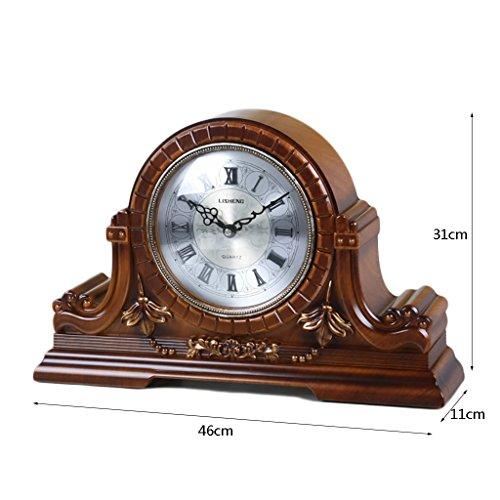 LANNA SHOP- Retro Mantel / Mantle Rhythm Quartz Clock resin living room desk shelf clocks Wood Mantle Clock