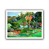 Paul Gauguin 'Landscape at Pont Aven' unwrapped canvas is a high-quality canvas print of the landscape that gave its name to the Pont Aven School of post-Impressionist artists. It relies on a number of principles including the abandonment of faithful...