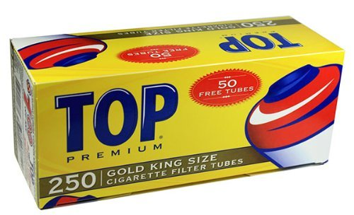 Top Gold Light RYO Cigarette Tubes - 100mm 200ct Box (50 Boxes) by TOP