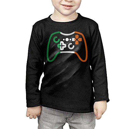 Irish Flag Games Console Kids Children Unisex Long Sleeve Cotton Crew Neck T-Shirt Tee (Best Lacrosse Game Ever)