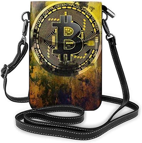 Bitcoin Inspirational Motivational ショルダーバッグ ポーチ メンズ 帆布 バッグ ズックバッグ 斜め掛けバッグ カジュアル キャンバス 多機能 小物入れ