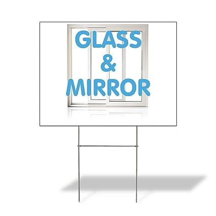 Amazon com : Plastic Weatherproof Yard Sign Glass & Mirror