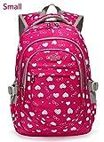 Best Girls Backpacks - Hearts Print Girls Preschool Backpacks For Kindergarten Kids Review