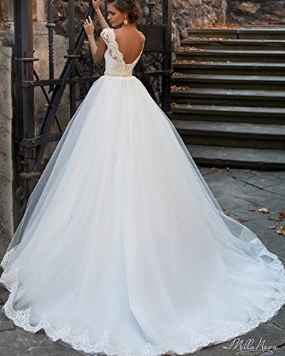 KA Beauty - Vestido - trapecio - para mujer blanco