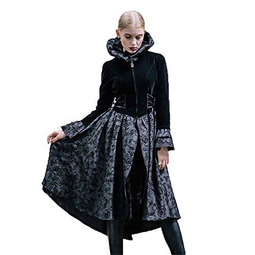 Devil Costume Steam (Devil Fashion Witch Women Jacket Steampunk Carve Pattern Holloween Costume (L))