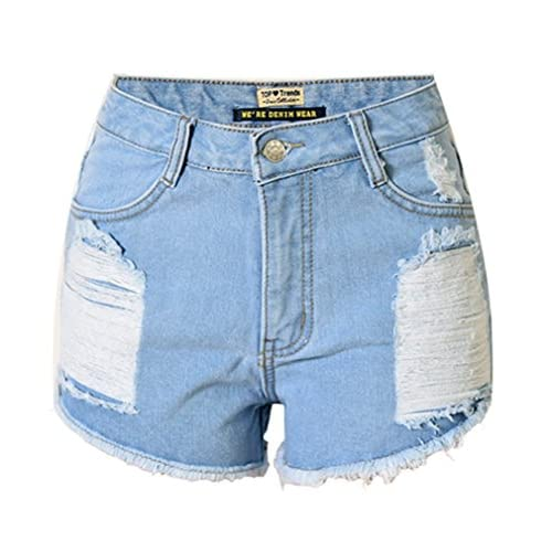 38a718fc5aed1 80%OFF Sexy Women Girls Summer Destroyed Hole Cut Off Washed Denim Shorts  Hot Pants