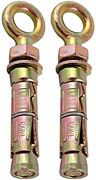 10 Pack M10 Eye Bolt Shield Anchor
