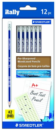 Staedtler Rally Graphite #2 Pencil, 12-Each (9122-2B12)