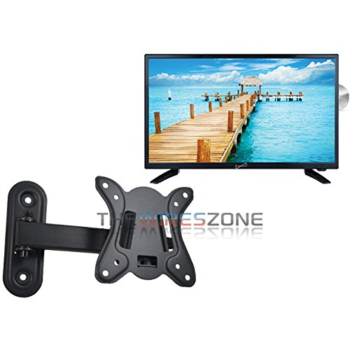 Supersonic SC-2412 24″ LED Widescreen HDTV with DVD Player + Wall Mount.