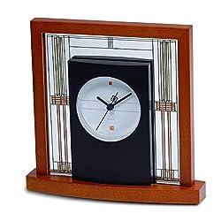 Bulova B7756 Frank Lloyd Wright Willits Table Clock