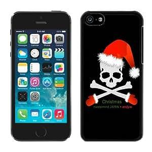 Customized Portfolio Iphone 5C TPU Case Christmas Skull Black iPhone 5C Case 1