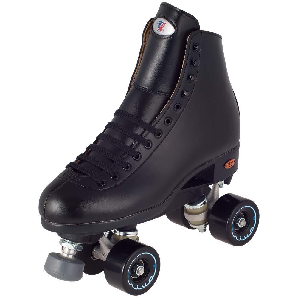Riedell Skates - Angel - Artistic Quad Roller Skate | Black | Size 4 |