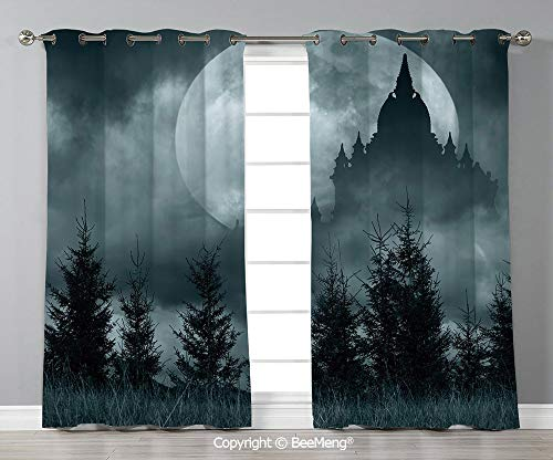 BeeMeng Thermal Decorative Insulated Blackout Curtains,Set of 2 Panels(108