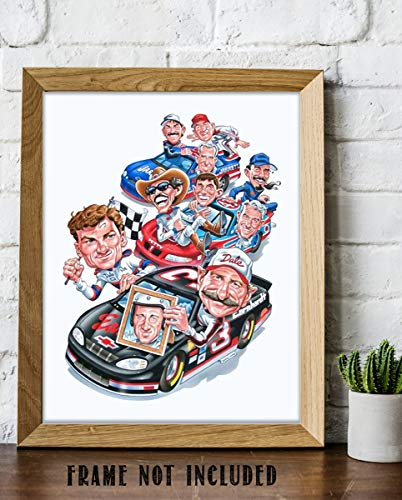 Nascar Cartoon Racers- 8 x 10