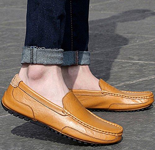 Moda Scarpe Mocassini Marrone Elegante Piatto Casuale Uomo Durevole Dooxi Barca Scarpe Tw6Aq1Y6