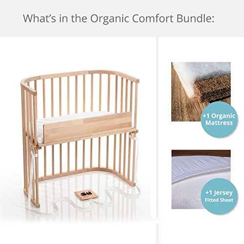 babybay Bedside Sleeper Organic Comfort Bundle in Trendsetter Light Gloss