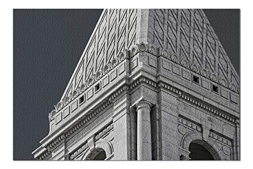 Hartford, Connecticut - Architectural Detail of Travelers Tower - Photography A-94727 (20x30 Premium 1000 Piece Jigsaw Puzzle, Made in USA!)