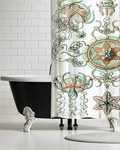 (UBU Republic Neptune Designer Shower Curtain, 71