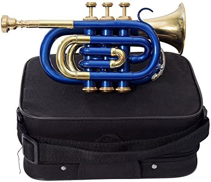 SHREYAS Rtr-10 Pocket Trumpet B-Flat Blue