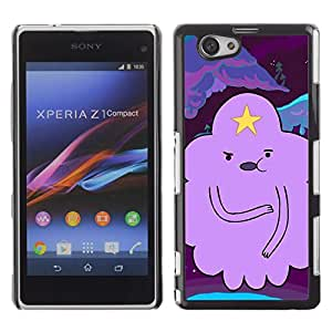 Be Good Phone Accessory // Dura Cáscara cubierta Protectora Caso Carcasa Funda de Protección para Sony Xperia Z1 Compact D5503 // cloud star cartoon character purple