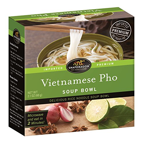 Dragon Noodle -  Snapdragon Vietnamese Pho Soup Bowl, 2.1 oz (Pack of 6)