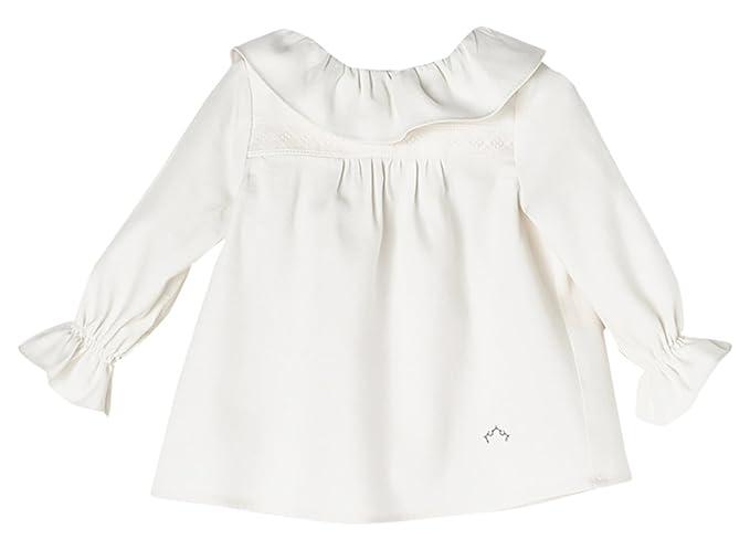Nanos 2713014817, Blusa para Bebés, Blanco (Crudo), Recién Nacido (Tamaño