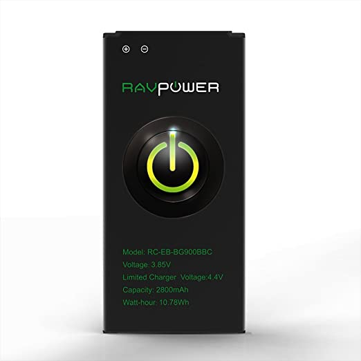 RAVPower Galaxy S5 Battery 2800Mah Replacement For: Amazon