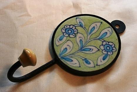 Gancio da parete da cucina gancio con farfalla in ceramica