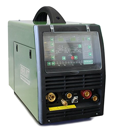 NEW 2018 Everlast PowerMTS 221Sti MODEL AC/DC TIG with PULSE/MIG/Stick 200amp 110v/220v Multi Process Welder