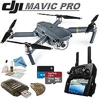 DJI Mavic Pro Collapsible Quadcopter: Includes SanDisk 32GB MicroSD Card, eDigitalUSA Card Reader, eDigitalUSA Cleaning Kit & eDigitalUSA Microfiber Cleaning Cloth.
