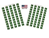 "Made in USA! 100 Country Flag 1.5"" x 1"" Self"
