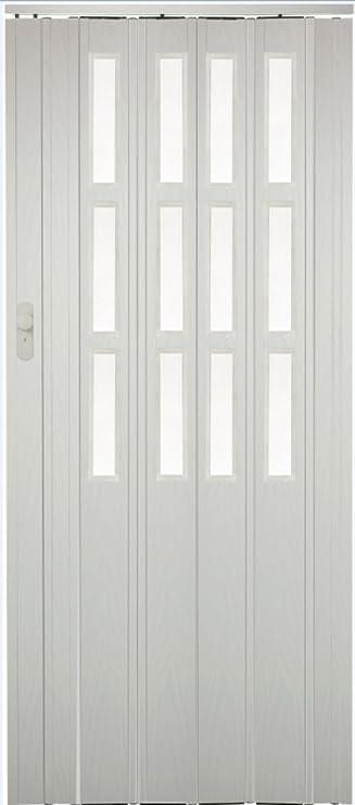 Puerta plegable corredera Blanco gewischt Colores con candado y ...