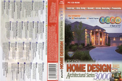 Punch Home Design Architectural Series 3000 Version 7.0.0 (PC-CD)