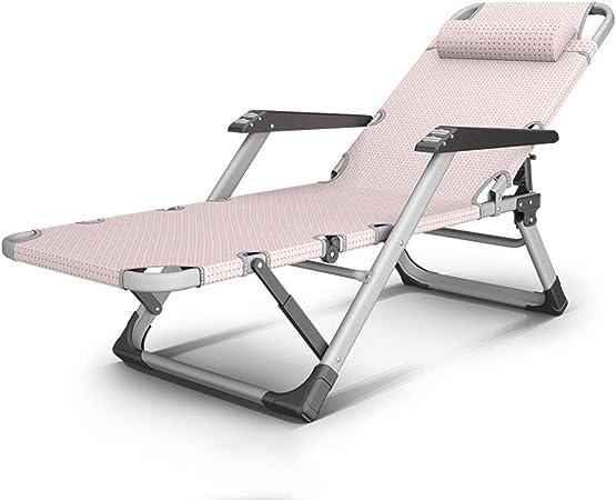 Gris Extra Ancho Silla n reclinable Sillas para Acampar al Aire Libre Relax Comfort para Adultos Tumbona Plegable Ajustables para el Patio Sala Estar Balc/ón Patio Playa