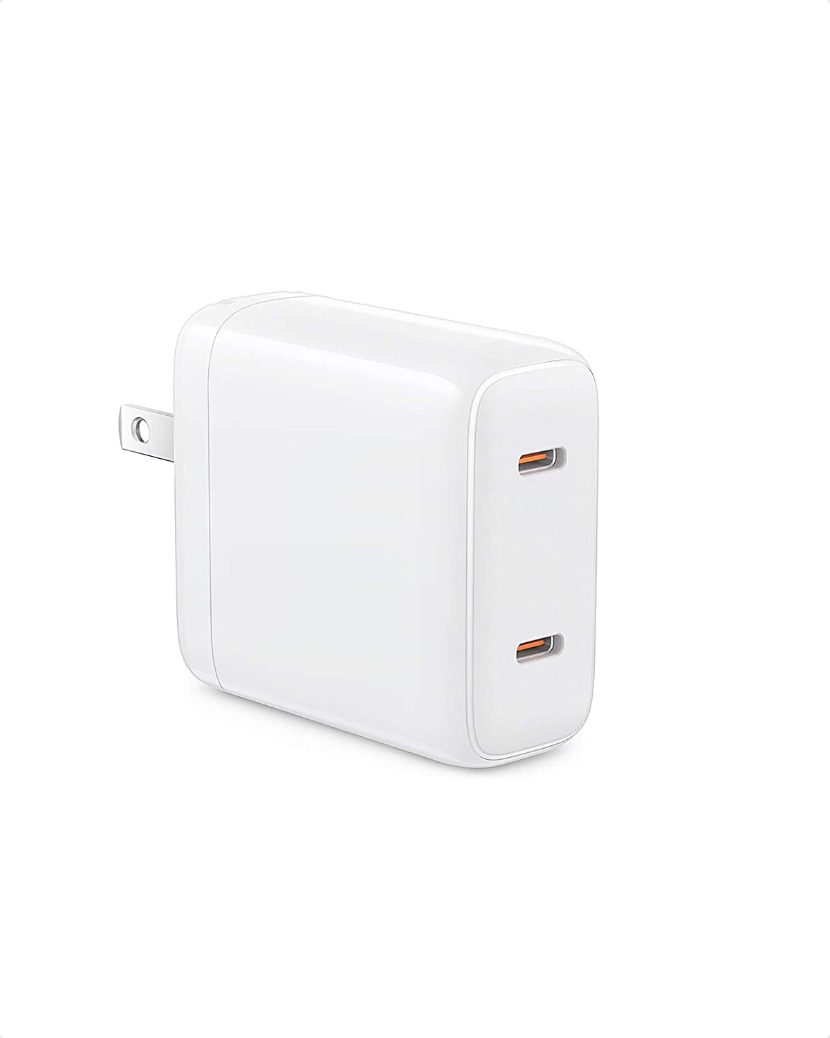USB C Charger, WEMISS iPhone Charger, 40W PD Charger with Foldable Plug, Dual 20W Fast Charger for iPhone12/12 Pro/12 Pro Max, iPhone 11/11 Pro/XS/XR/X, Galaxy S10/S9, iPad Pro and More (White)
