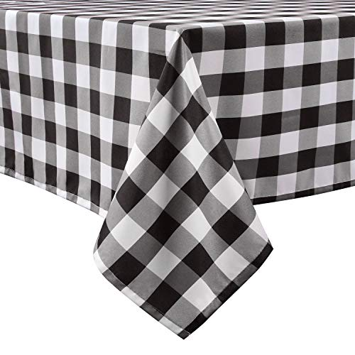 Top 10 recommendation checkered fabric tablecloth black