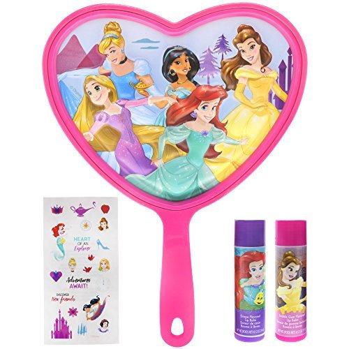(TownleyGirl Disney Frozen, Ariel, Rapunzel, Cinderella, Snow White, Sleeping Beauty and Belle Lip Makeup (Disney Princess Lip Balm and Mirror))