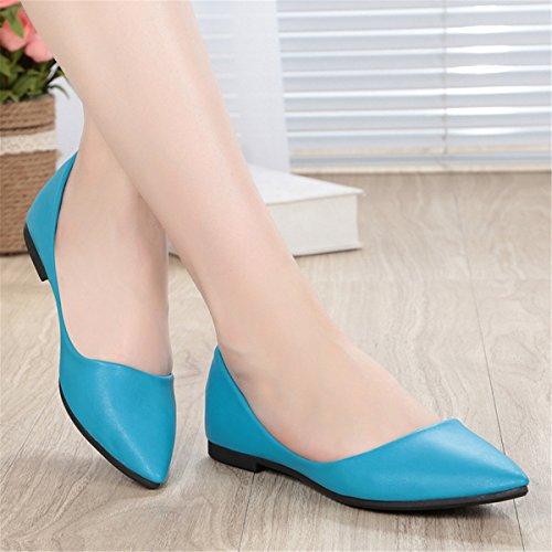 Donne Moda Classica Casual Scarpe Da Ballo A Punta Comfort Morbido Slip On Flats Scarpe S-10