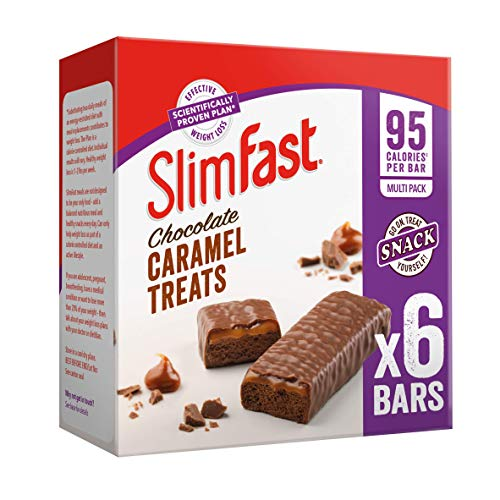 SlimFast Chocolate Caramel Snack Bar Multipacks, 5 x 6 Bar Multipack (30 Bars Total)