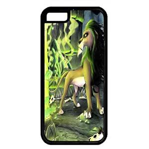 iPhone 5C case ,fashion durable Black side design phone case, Rubber material phone cover ,Designed Specially Compatible with the lion king scar.