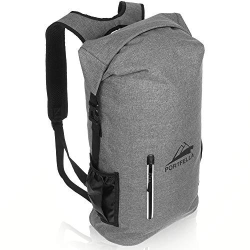Portfella Backpack Heavy Duty 30L Dry Bag – Outdoor Hiking Travel Backpack Waterproof Rolltop – Camping Daypack for Men – Water Resistant Backpack Padded – Fishing, Boating, Rafting, Kayaking Gear