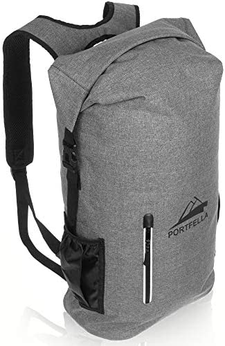 Portfella Backpack Heavy Duty 30L Dry Bag – Outdoor Hiking Travel Backpack Waterproof Rolltop – Camping Daypack for Men – Water Resistant Backpack Padded – Fishing, Boating, Rafting, Kayaking Gear