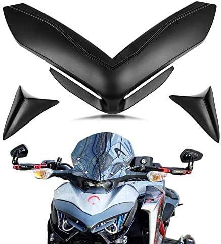 Psler Motorrad Frontverkleidung Nasenabdeckung Für Kawasaki Z900 2017 2019 Schwarz Auto